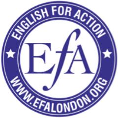 Logo de la société EFA London (English for Action)