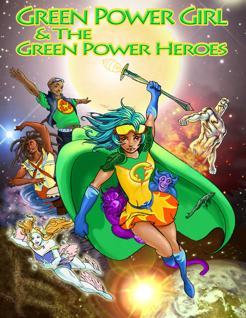 Green power girl video