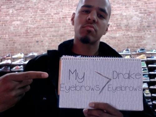 J Cole Eyebrows Vs Drakes J. Cole Eyebrows (@JCo...