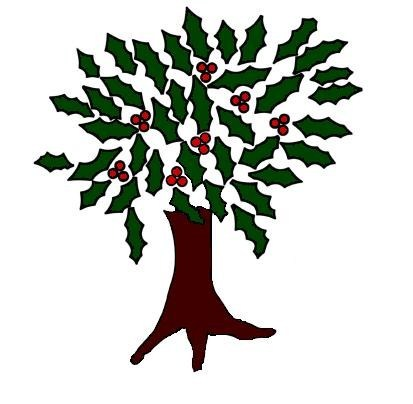 Image result for holly tree clipart