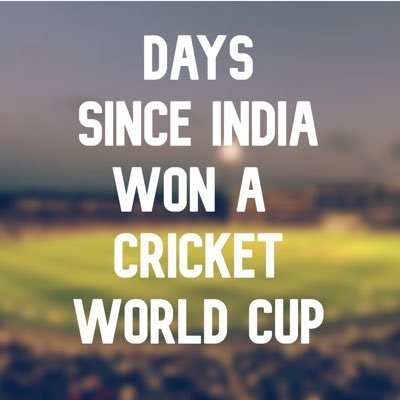 Days Since India Won A Cricket World Cup