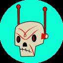 Death bot head circle reasonably small