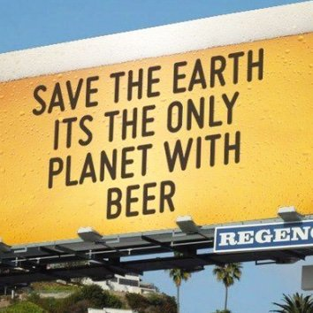 Ecofriendly Beer Drinker