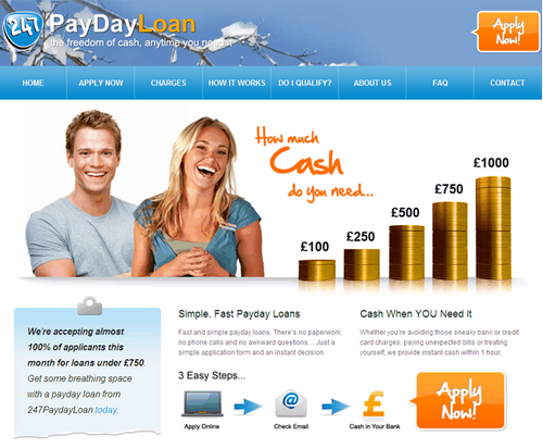 payday loan application phone calls