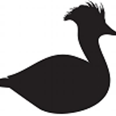 Art white black clip swan and