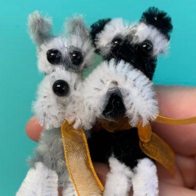 Coco & Skippy Mini Schnauzers