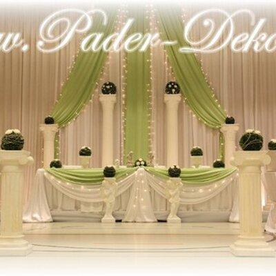 Hochzeitsdekoration paderdeko twitter Hochzeitsdekoration
