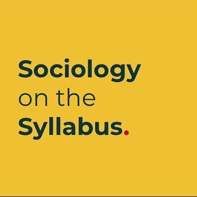 Sociology on the Syllabus (@soconsyllabus )