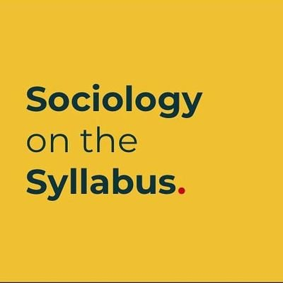 Sociology on the Syllabus (@soconsyllabus) Twitter profile photo