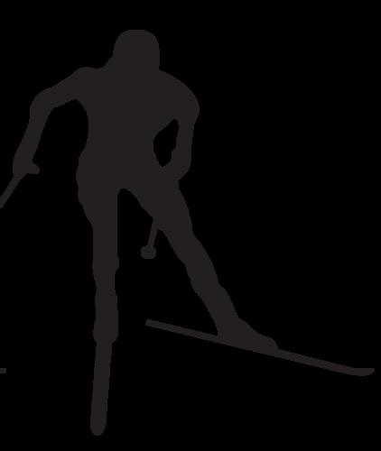 Cross country skiing logo