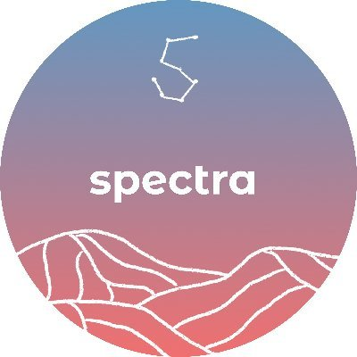 Spectra's logo within a circle next to the text with the name of Spectra