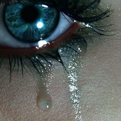 sad girl emoting on twitter i cry my tears not from my eyes but