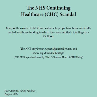 JUDICIAL REVIEW - NHS Continuing Healthcare (@NHSCHC_SCANDAL )