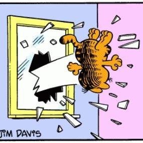 Garfield Thrown Out The Window Yeetgarf Twitter