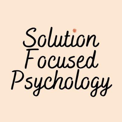 Solution Focused Psychology (@SFPsychology2) Twitter profile photo
