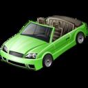 Car convertible green reasonably small