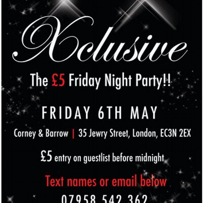 Xclusive Fri 6th May on Twitter: