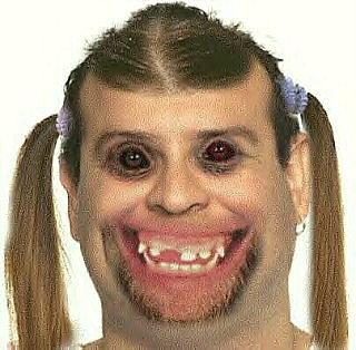 Ugly girl photo