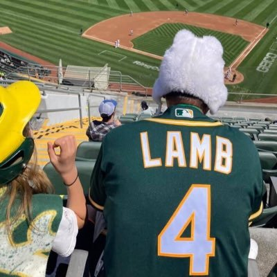 My 3y/o put a lamb hat on me & the A's scored 5 runs. Now I'm wearing the hat every day just in case.
