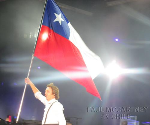 Image result for paul mccartney chile flag