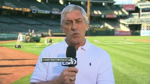I am not Ray Fosse, former catcher and current broadcaster for the greatest baseball team in the universe, the Oakland Athletics! p.s. i love catchers