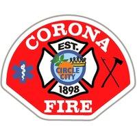 Corona Fire Dept twitter profile
