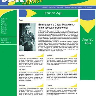 Gazeta layout inicial 1994 400x400