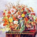 Basket of flowers border reasonably small