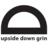 upside down grin