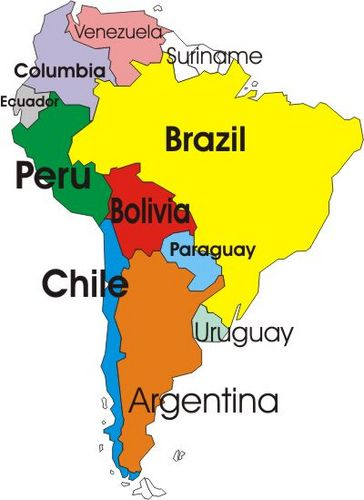 Map Of Spanish Speaking Countries And Capitals In South America