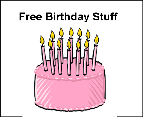 Many of these birthday deals and coupons are via e-mail, so sign up in advance to your birthday. In fact, for that reason alone, I strongly suggest creating a new gmail account for these birthday freebies.