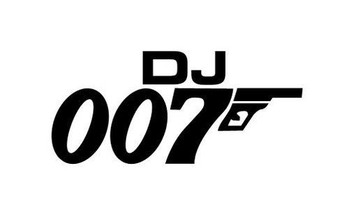 DJ 007 THE LEGEN...007 Logo White