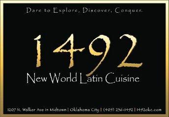 1492 restaurant 1492okc twitter for 1492 new world latin cuisine