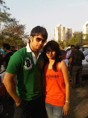 Photo of Vivian Dsena & his  Sister  Parvara Garcia