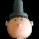 Top hat head reasonably small