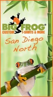 Big frog san diego n bigfrogsandiego twitter for Custom t shirts san diego