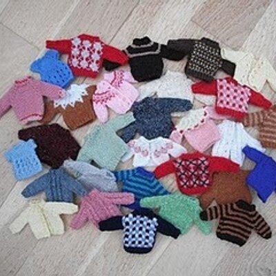 Helen Cox On Twitter Free Miniature Knitting Pattern For Dolls