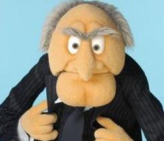 Statler muppet statler balcony twitter for Balcony muppets