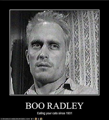 boo radley essay question The kids think of boo as some sort of monster because of what they have heard from the gossip of the grown up around maycomb boo radley subtly interacts with the kids by placing trinkets in a knot hole of a tree.