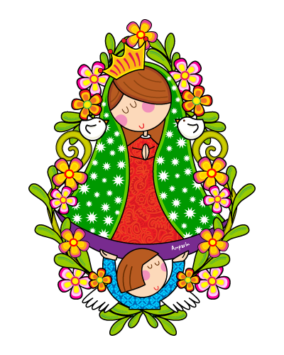 La Virgen De Guadalupe Caricatura Our Lady Of