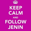 Keep calm follow jenin reasonably small
