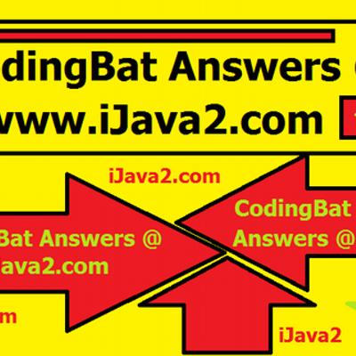 CodingBat Answers (@CodingBatAnswer) | Twitter