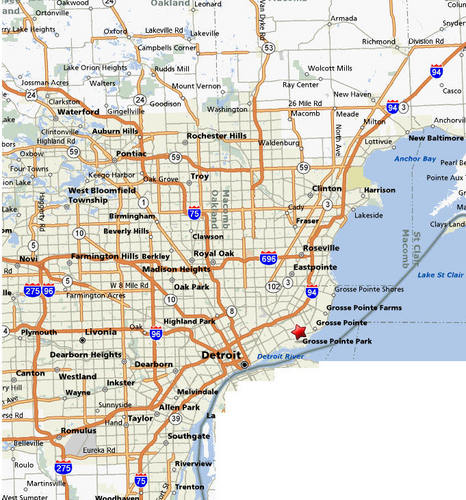 29 New Map Of Detroit Area And Suburbs | Afputra.com