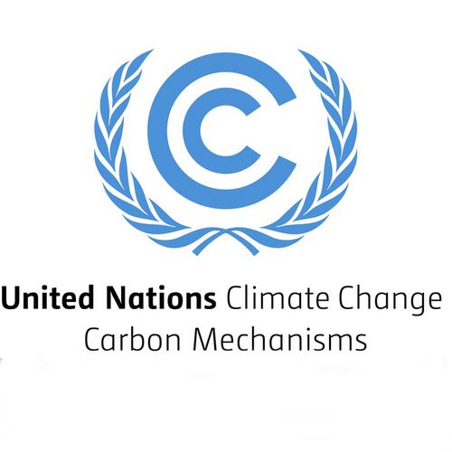 Das ist das logo des Clean Development Mechanism, einer der führenden Standards für Klimaschutzprojekte für Klimaneutralität.