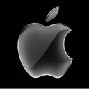 Apple logo black xsan reasonably small