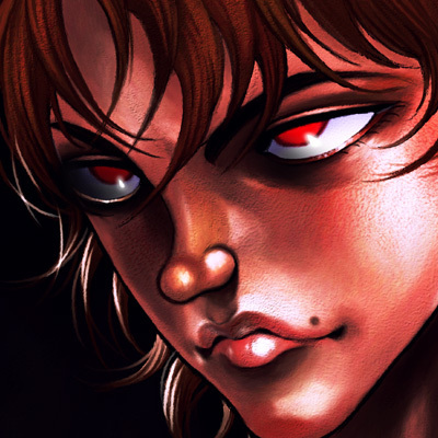 目力が半端ない瞳が赤く光っている範馬刃牙の画像・壁紙