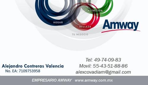 tarjetas de presentacion de amway