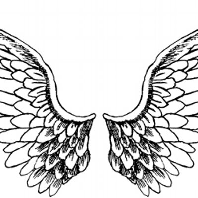 Only Angel Wings Colouring Pages Sketch Coloring Page