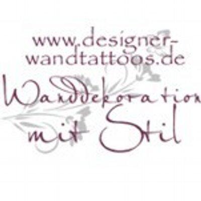 designer wandtattoos wandtraum twitter. Black Bedroom Furniture Sets. Home Design Ideas