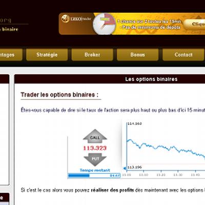 Sites de trading d'options binaires